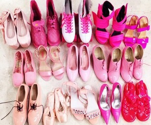 heels, pink, and shoes image
