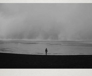 alone, hipster, and sea image