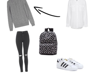adidas, cool, and school image