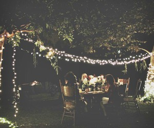 food, garden, and lights image