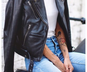 black, jeans, and rock image