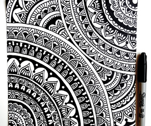 mandala and black and white image
