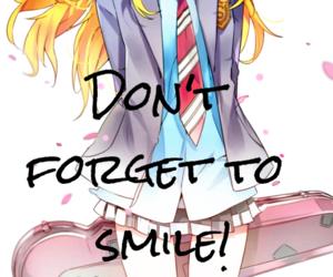 anime girl, cherry blossom, and miyazono kaori image