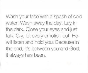 always, emotion, and god image