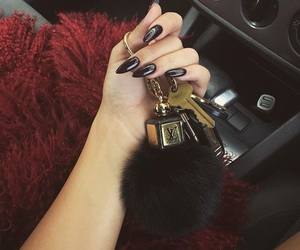 nails, car, and black image