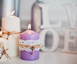 decor, candle, and home image