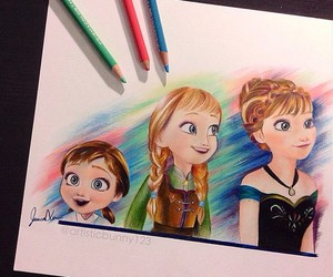 frozen, anna, and drawing image