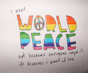 peace and text image