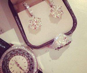 diamond, watch, and luxury image