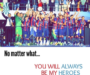 Barca, football, and heroes image