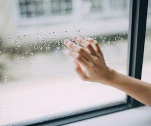 hand and rain image