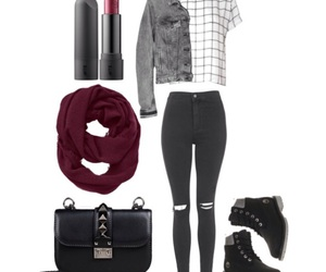 fashion, lipstick, and outfits image