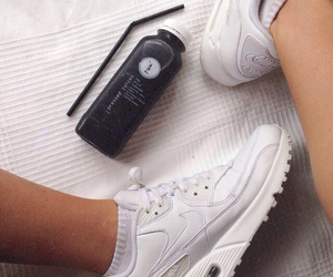 juice, nike, and shoes image