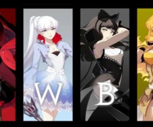 anime, black, and ruby image