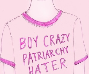 feminist, pink, and t-shirt image