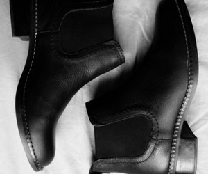 black&white, boots, and fashion image