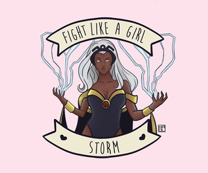 feminism, girl, and storm image