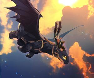 art, dragon, and illustration image