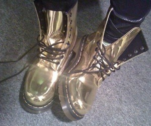 gold, shoes, and boots image