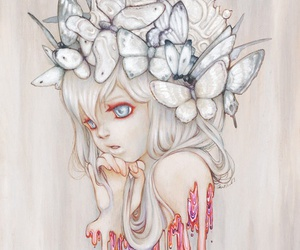 art, butterfly, and Camilla d'Errico image