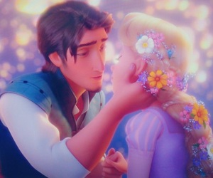 disney, couple, and tangled image