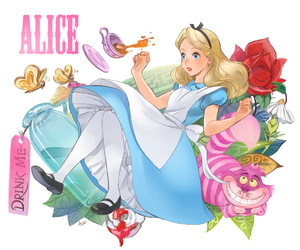 alice in wonderland and girl image