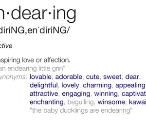 definition, endearing, and quote image