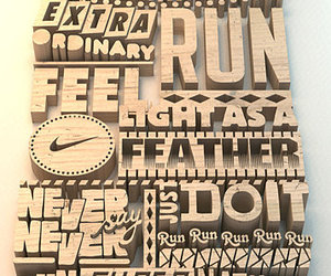 nike, motivation, and typography image