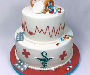 cake, pharmacy, and medicine image