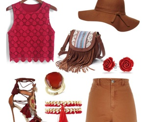 accessories, brown, and flowers image