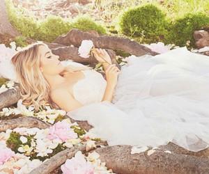 dress, flowers, and lauren conrad image