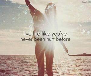 hurt, live, and life image