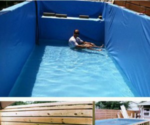 diy, dumpster, and pool image