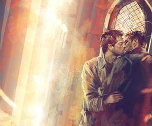 supernatural, castiel, and destiel image