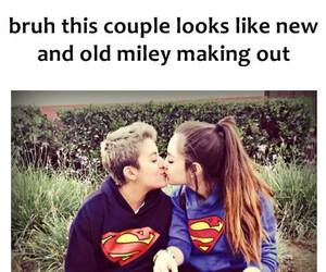 miley cyrus, couple, and funny image