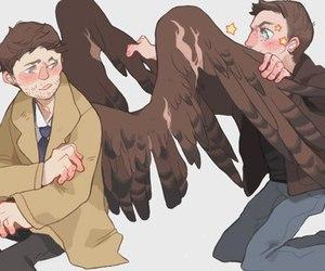 dean, supernatural, and wings image