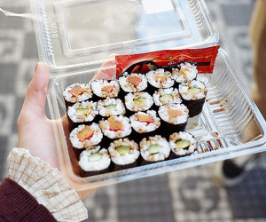 sushi, food, and yummy image