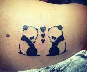 panda, back, and heart image