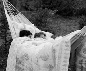 love, couple, and hammock image