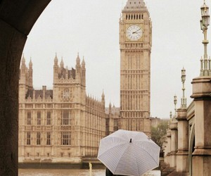 london, Big Ben, and umbrella image