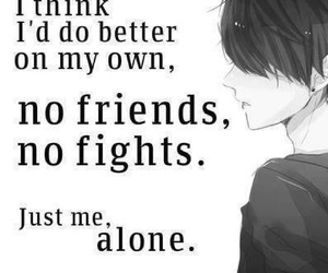 anime, alone, and quotes image