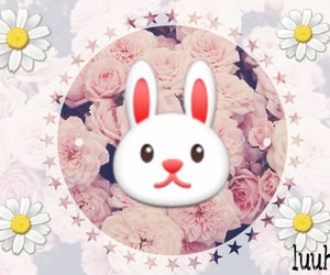 bunny, flower, and tumblr image