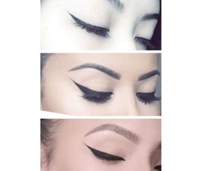 goals, makeup, and winged eyeliner image