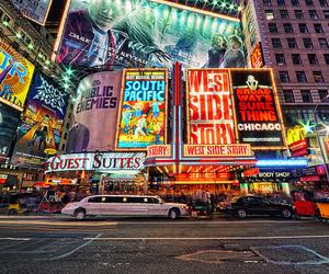 new york, light, and city image
