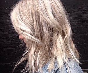 blonde, cool blonde, and long bob image