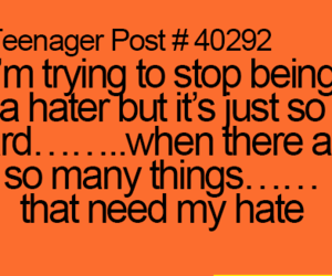 funny, hater, and post image