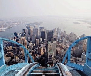 city, new york, and Roller Coaster image