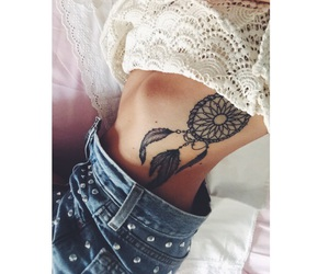 dreamcatcher, levis, and tatoo image