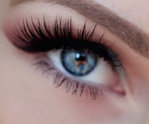 blue eyes, eye liner, and eyebrows image