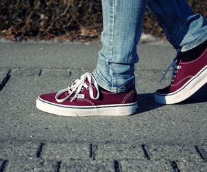 vans, shoes, and red image